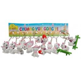 Ключодържател цветна PVC фигурка - коте