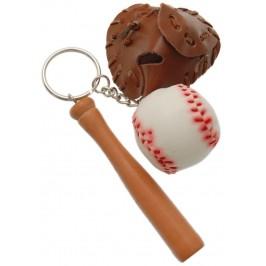 Сувенирен ключодържател - бейзболна ръкавица, шапка и топка