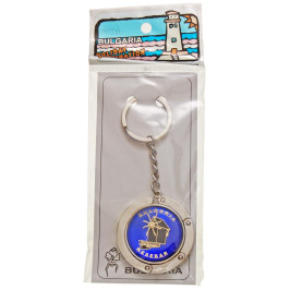 Сувенирен метален ключодържател с графика - мелницата в Несебър