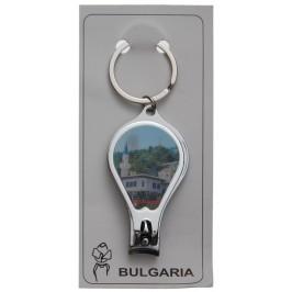 Сувенирен ключодържател нокторезачка с отварачка, декориран с холограма на забележителности на Балчик и Варна