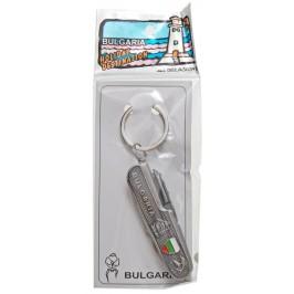 Сувенирен метален ключодържател - шфейцарско ножче със седем различни инструмента