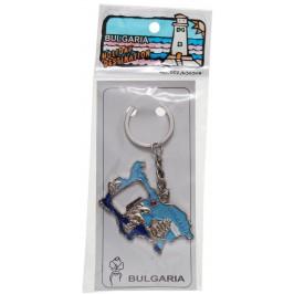 Сувенирен метален ключодържател отварачка - контур на България