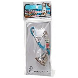 Сувенирен ключодържател - метална камбанка с въже