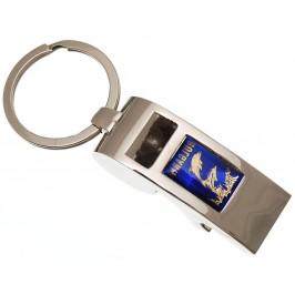 Сувенирен метален ключодържател свирка с отварачка