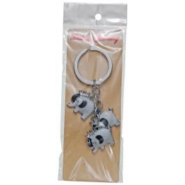 Сувенирен метален ключодържател - три слона с корони