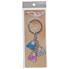 Сувенирен метален ключодържател - три дамски чанти