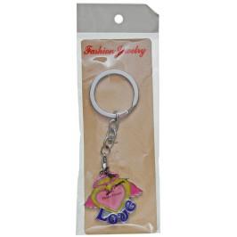 Сувенирен метален ключодържател - сърце с място за снимка