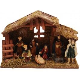 Декоративен коледен макет - Рождество - изработен от гипс