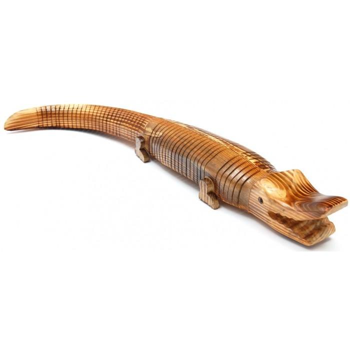 Сувенирна дървена фигурка - крокодил гъвкав - 72см
