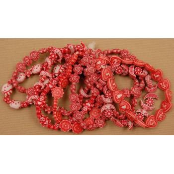 Мартеница гривна - орнаменти в бяло и червено