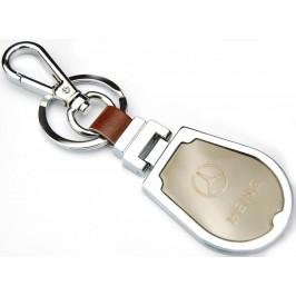 Ключодържател, изработен от метал и изкуствена кожа с емблема на MERCEDES BENZ