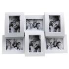 Малка мултирамка за снимки 6 в 1, изработена от PVC материал и фронт стъкло