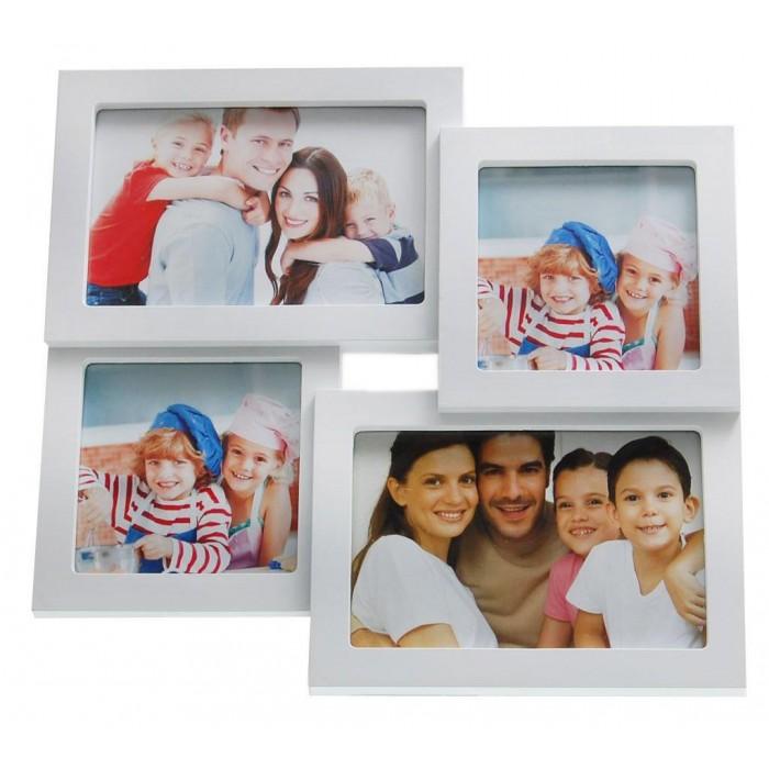 Мултирамка за 4 снимки, изработена от PVC материал и фронт стъкло