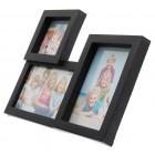 Черна мултирамка за 3 снимки с поставка за хоризонтално поставяне