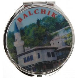 Сувенирно джобно огледало метал, декоративно капаче с холограма - изгелди от Варна и Балчик