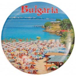 Сувенирна фигурка с магнит и отварачка - плажна ивица и надпис България