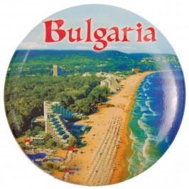 Сувенирна фигурка с магнит и отварачка - плажна ивица Албена с надпис България