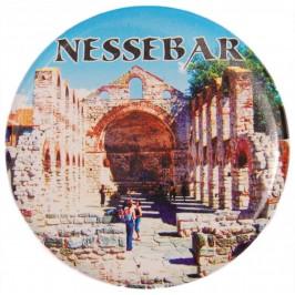 Сувенирна фигурка с магнит и отварачка - църква от Несебър