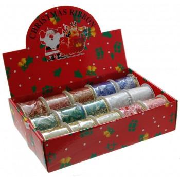 Ефектна панделка за луксозно опаковане - текстил с щампа брокат