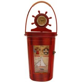 Сувенирна дървена кутия за ключове с часовник