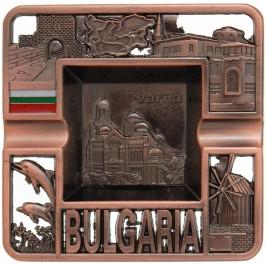 Сувенирен метален пепелник с релефен надпис