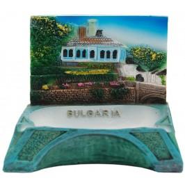 Сувенирен пепелник с релеф - синята къща на Етъра