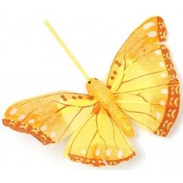 Декоративна фигурка пеперуда с магнит, украсена с цветен брокат