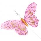 Декоративна фигурка пеперуда с магнит на метален постамент