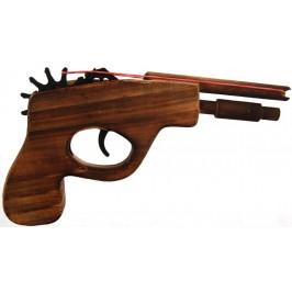 Сувенирен, дървен револвер с двойно дуло