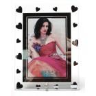 Стъклена рамка за снимка с огледални сърчица