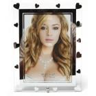 Стъклена рамка за снимка, красиво украсена с орнаменти