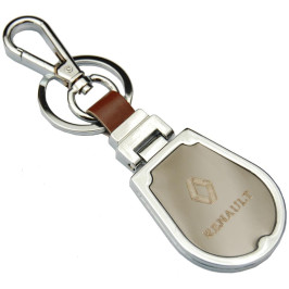 Ключодържател, изработен от метал и изкуствена кожа с емблема на RENAULT