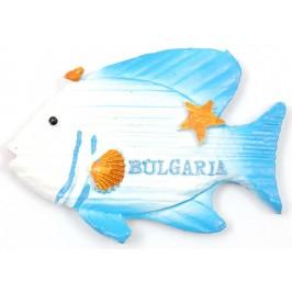 Декоративна фигурка с магнит - риба с надпис България