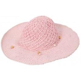 Лятна дамска плетена шапка - розова