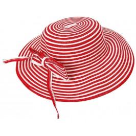 Красива шапка от текстил с голяма периферия
