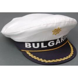 Лятна капитанска шапка с бродерия