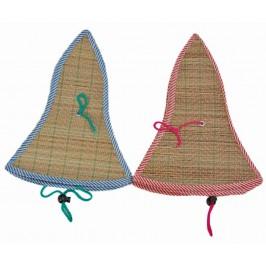 Лятна сламена сгъваема шапка във формата на камбанка