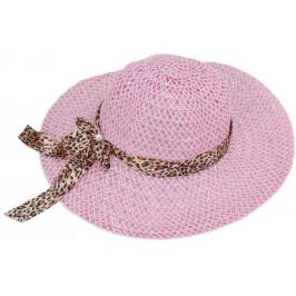 Лятна дамска плетена шапка, декорирана с цветна панделка