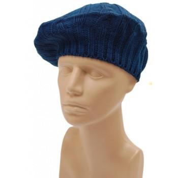 Зимна шапка тип барета - плетена