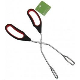 Домакинска щипка тип ножица за скара с двуцветна ергономична дръжка