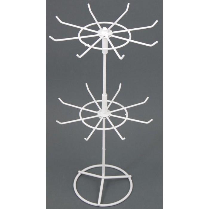 Метален стелаж тип въртележка - два самостоятелни етажа с по 8 куки