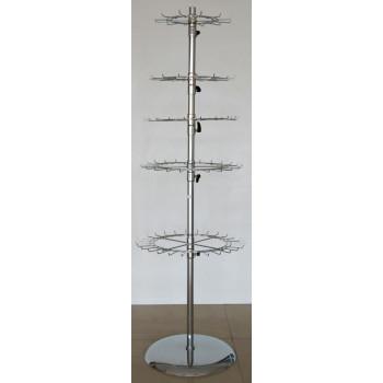 Стелаж метал тип въртележка - никелиран