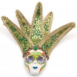 Декоративна фигурка маска, изработена от порцелан