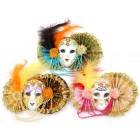 Декоративна фигурка - маска, изработена от порцелан