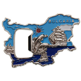 Сувенирена металена отварачка - контури на България