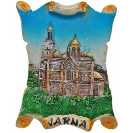 Декоративна гипсова фигурка с магнит - катедралата във Варна