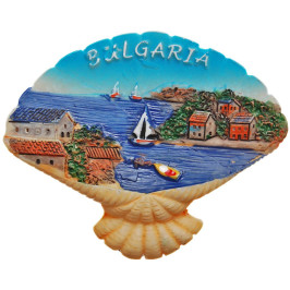 Декоративна гипсова фигурка с магнит - мида - морски бряг
