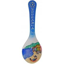 Декоративна фигурка лъжица с магнит - морски бряг