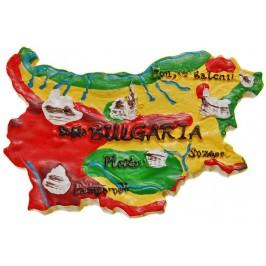 Сувенирна фигурка с магнит - български църкви на картата на България