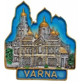 Декоративна гипсова фигурка с магнит - Варненската катедрала